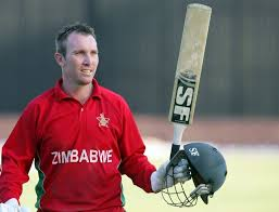 Zimbabwe's captain Brendan Taylor smiles after victory during the first game of the three match ODI cricket series against Pakistan in Harare on August 27, 2013. Zimbabwe recorded their first victory over Pakistan in a one day international since 1998 when they beat them by seven wickets. (AFP Photo/Jekesai Njikizana)