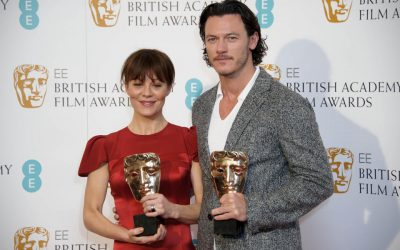 British actors Helen McCrory, left, and Luke Evans pose for photographers ahead of the EE British Academy Film Awards Nominations announcement in London, Wednesday, Jan. 8, 2014. (Photo by Jonathan Short/Invision/AP).